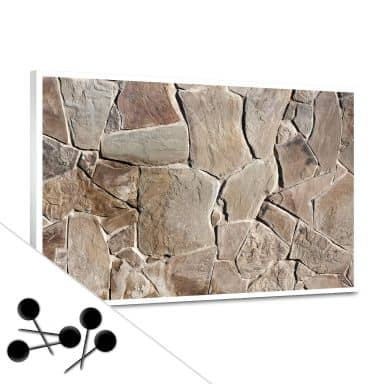Pinnwand Mediterrane Mauer inkl. 5 Pinnadeln