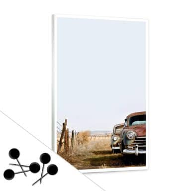Memoboard Old Rusted Cars inkl. 5 Pinnadeln