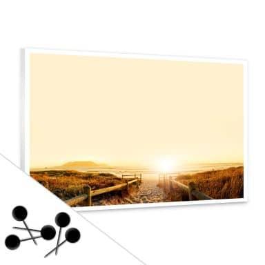 Memoboard Sunset at the Beach inkl. 5 Pinnadeln
