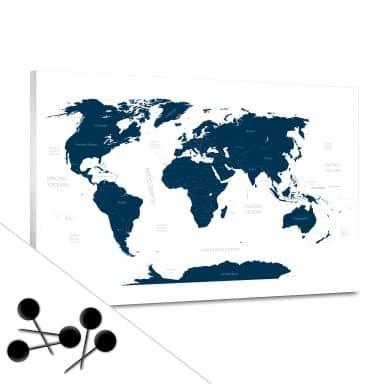 Memoboard Weltkarte inkl. 5 Pinnadeln