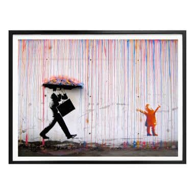 Poster Banksy - Coloured Rain