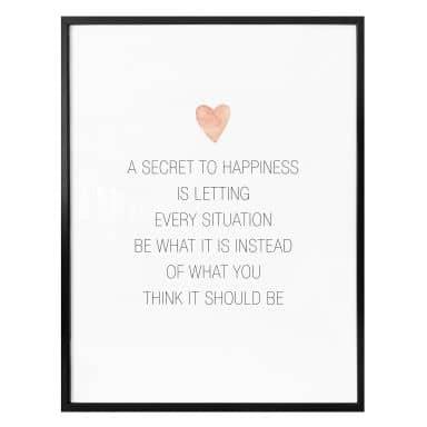 Poster Confetti & Cream - A secret to happiness