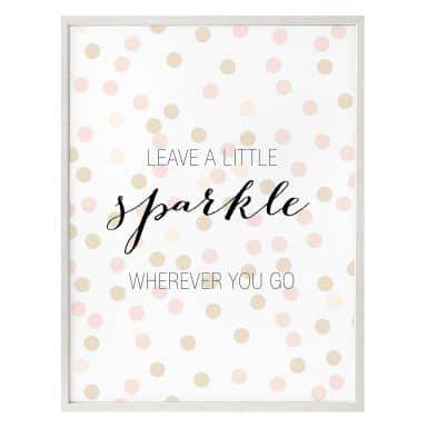 Poster Confetti & Cream - Leave a little spa a little sparkle wherever you go