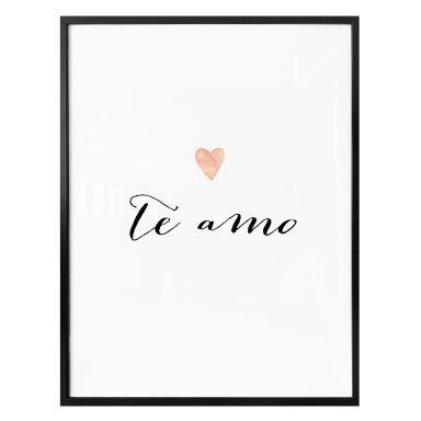 Poster Confetti & Cream - Te amo