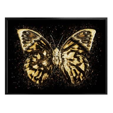 Poster Hugonnard - Goldener Schmetterling