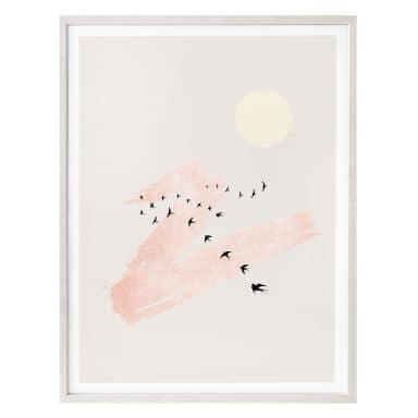 Poster Kubistika - Wolkenstreifen