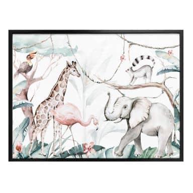 Poster Kvilis - Dierenvrienden in de Jungle
