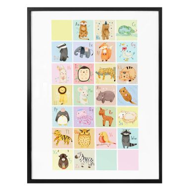 Poster Loske - Tierisches Alphabet