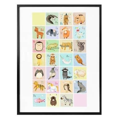 Poster Loske - Tierisches Alphabet - Englisch