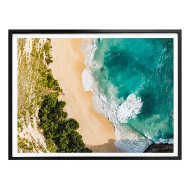 Poster Colombo - Strandblick von oben