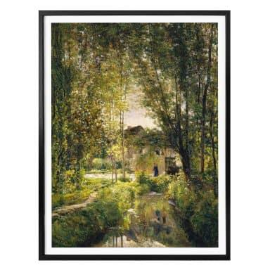 Poster Daubigny - Landschaft mit Sonnenlicht
