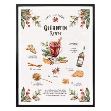 Poster Glühwein Rezept
