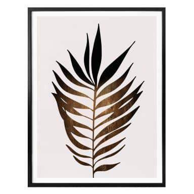 Poster Kubistika - Golden Leaf