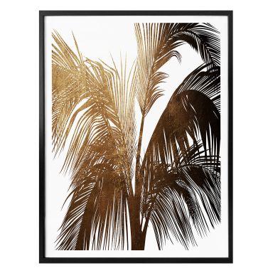 Poster Kubistika - Goldener Sonnenschein
