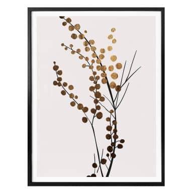 Poster Kubistika - Goldener Zweig