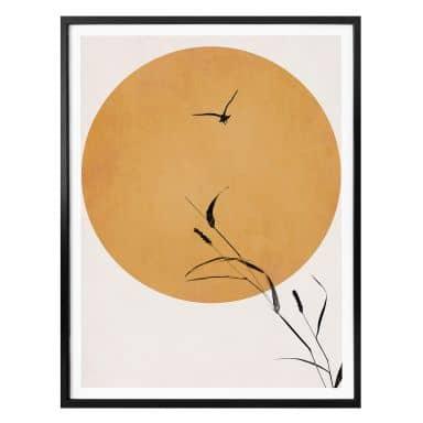 Poster Kubistika - Sunrise Bird
