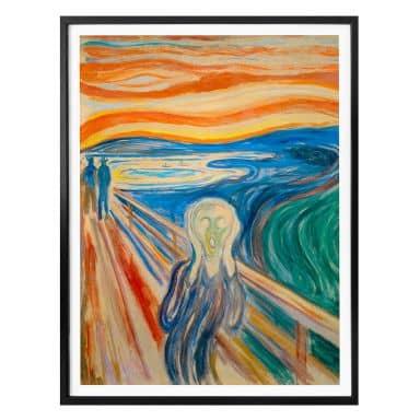 Poster Munch - de Schreeuw