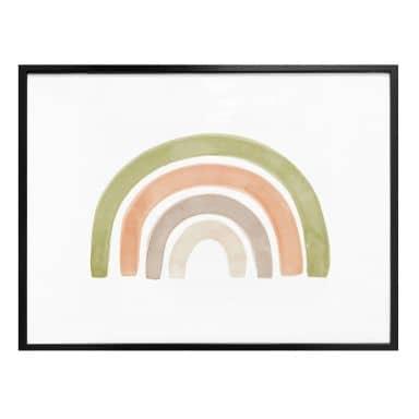 Poster Nouveauprints - Aquarel Regenboog