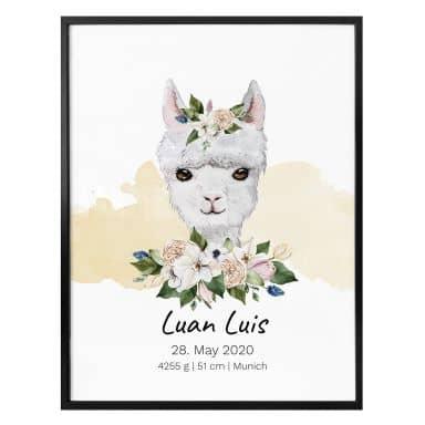 Poster Lama + Testo personalizzato
