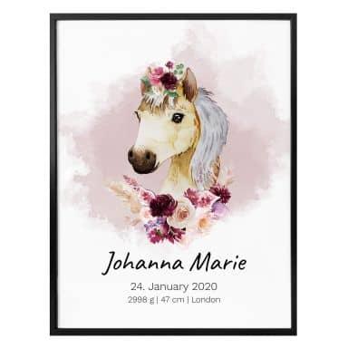 Poster Pony + Testo personalizzato