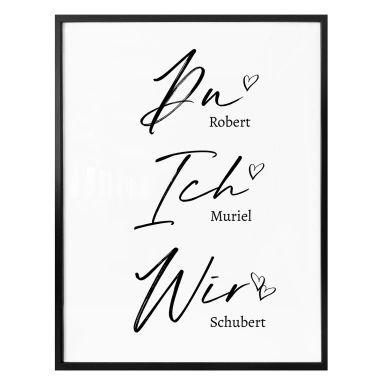 Personalisiertes Poster Du Ich Wir