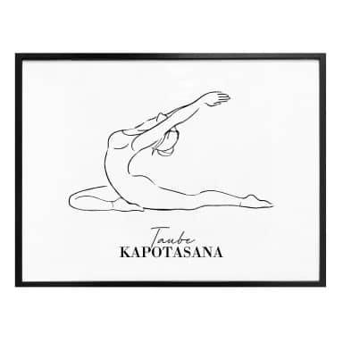 Poster Yoga - Colomba - Line Art
