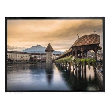 Poster Huber - Old Town Lucerne