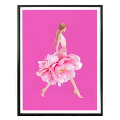 Plakat - Korenkova - Fashion Girl Pink