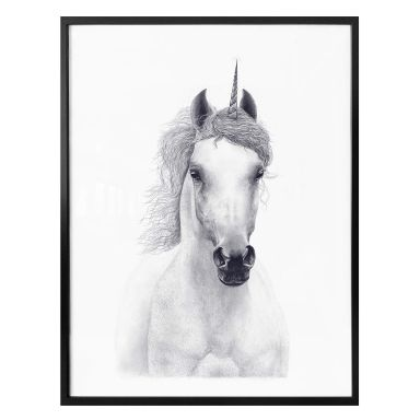 Poster Korenkova - White unicorn