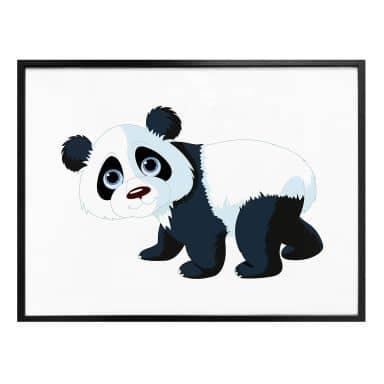 Poster Lopende Panda
