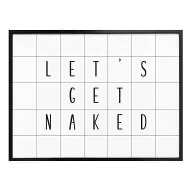 Plakat - Let's get naked