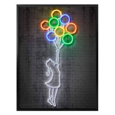 Poster Mielu - Flying Balloons