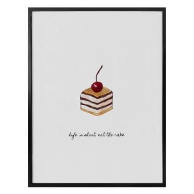 Poster Orara Studio - Life is short eat the cake