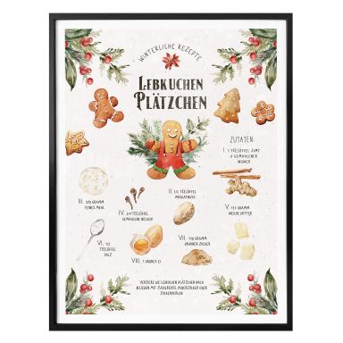 Poster Lebkuchen Plätzchen Rezept