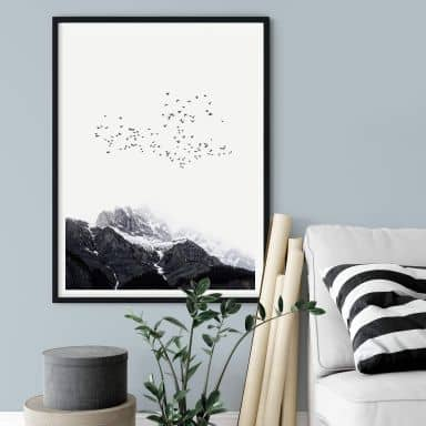 Poster Kubistika - High in the Mountains
