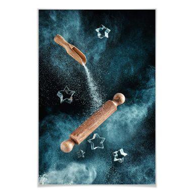 Poster Belenko - Kitchen mess: Star shaped Cookies
