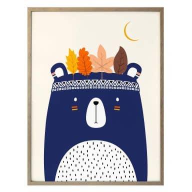 Poster Kubistika - Kleiner Indianer