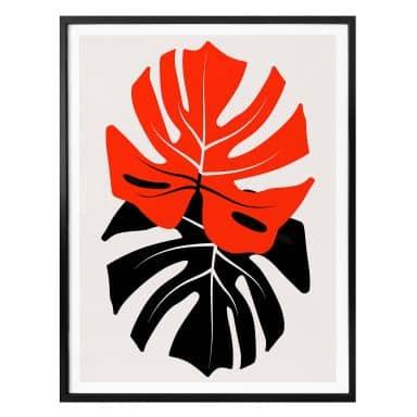 Poster Kubistika - Monstera Duett