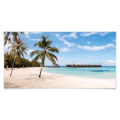 Poster Colombo - Wasserbungalows auf den Malediven