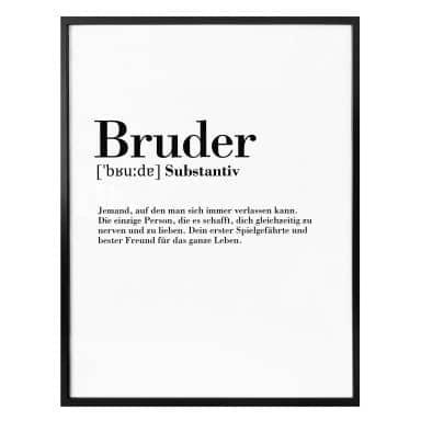 Poster Grammatik - Bruder