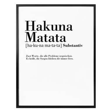 Poster Grammatik - Hakuna Matata