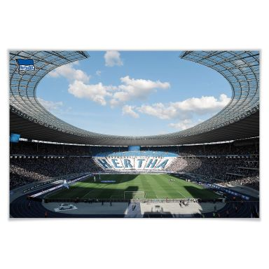 Poster Hertha BSC - Stadion am Tag