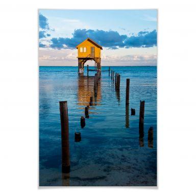 Poster Haus auf dem Meer