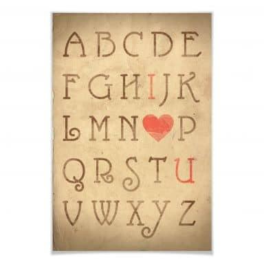 Poster Love Alphabet