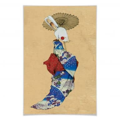 Poster Loske - Geisha rabbit 01