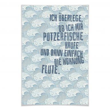Poster Ich überlege, ob ich mir Putzerfische kaufe