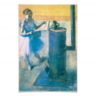 Poster Degas - Zeitunglesende Tänzerin