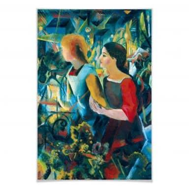 Poster Macke - Zwei Mädchen