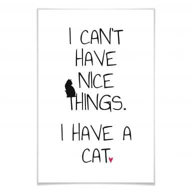 Poster I can't have nice Things - Cat
