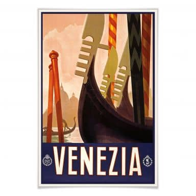 Poster Vintage Travel - Venezia